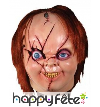 Masque intégral de Chucky pour adulte, luxe