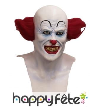 Masque intégral de clown terrifiant avec cou