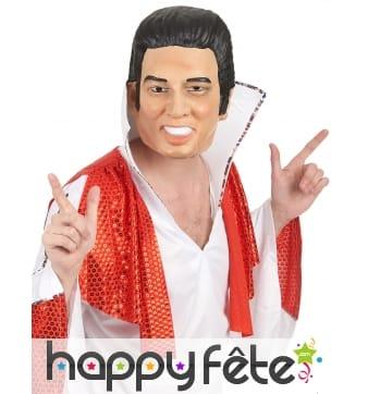 Masque intégral de Elvis en plastique souple