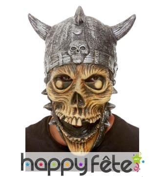 Masque intégral de squelette viking pour adulte