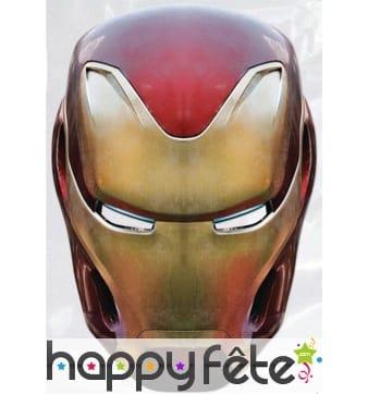 Masque Iron man Avengers Infinity War en carton