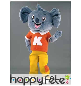 Mascotte koala habillé
