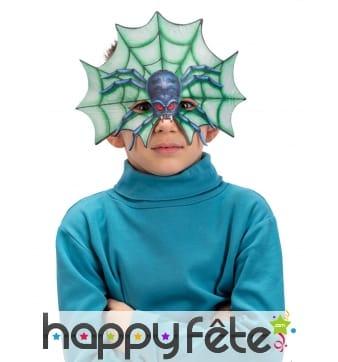 Masque loup araignée et toile pour enfant