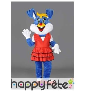 Mascotte lapine bleue