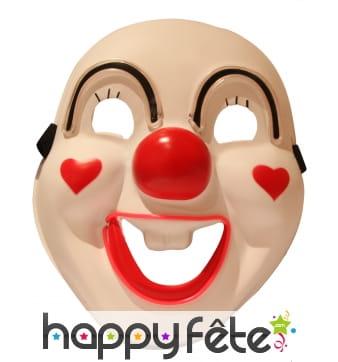 Masque LED de clown sourcils et bouche lumineux