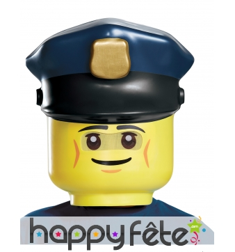 Masque Légo de policier pour enfant