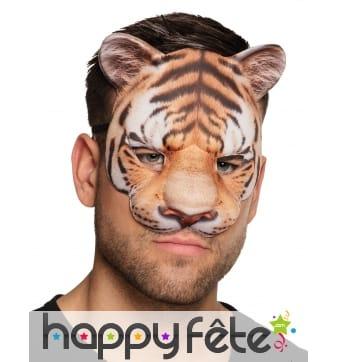 Masque loup de tigre pour adulte