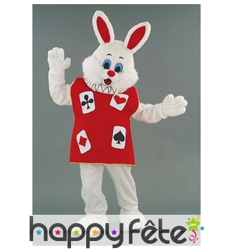 Mascotte lapin magicien