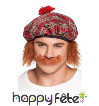 Moustache marron clair d'écossais
