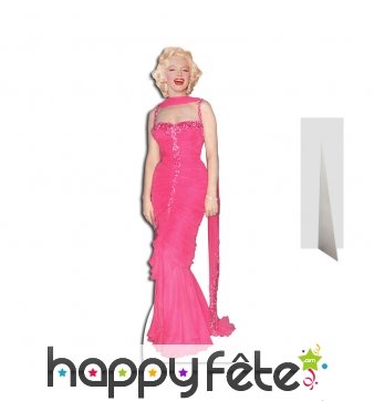 Marilyn Monroe en robe de soirée rose, carton plat