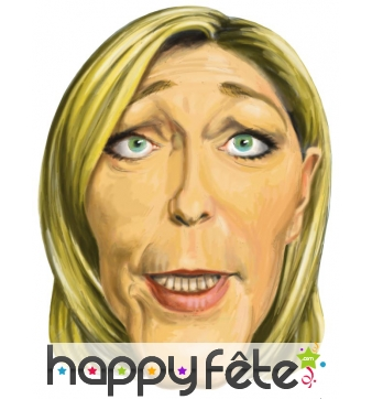 Masque marine le pen caricature