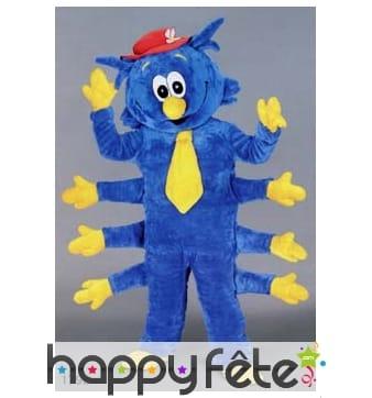 Mascotte mille pattes bleu