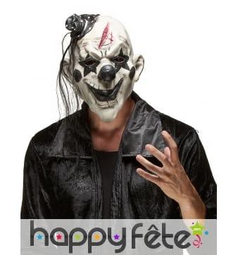 Masque noir et blanc de clown tueur