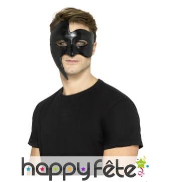 Masque noir gothique de style vénitien