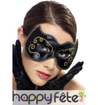 Masque noir or