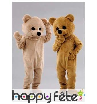 Mascotte ours brun ou beige
