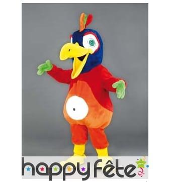 Mascotte perroquet amusant