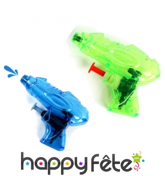Mini pistolet à eau transparent de 9cm