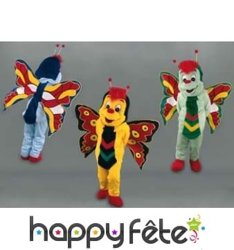 Mascotte papillon coloré