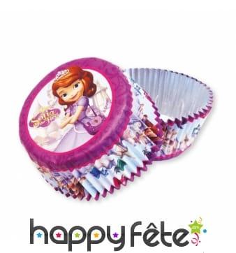 Moules pour cupcake imprimé Princesse Sofia