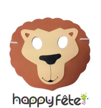 Masque plat de lion pour enfant, en mousse