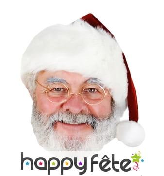 Masque plat de père Noël en carton