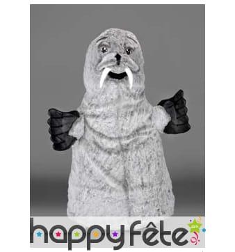 Mascotte phoque gris