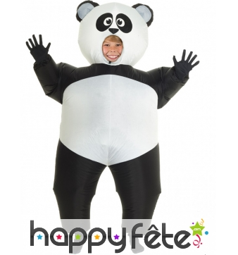 Morphsuit panda gonflable pour adulte