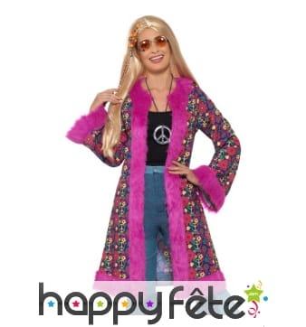 Manteau psychédélique hippie années 60