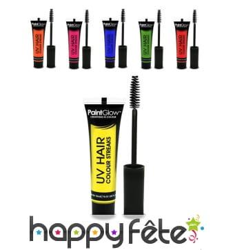 Maquillage pour mèche de cheveux UV phospho