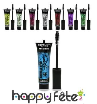 Maquillage pour mèches de cheveux pailletées