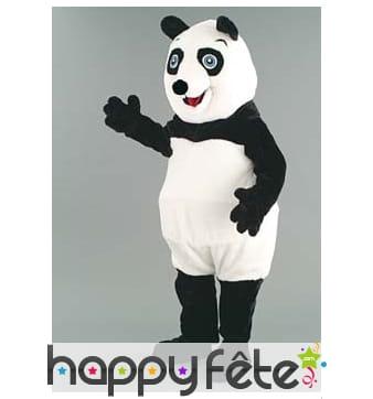 Mascotte panda noir et blanc
