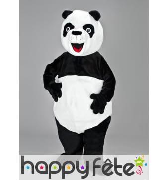 Mascotte panda noir