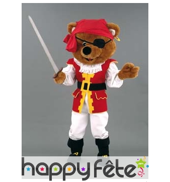 Mascotte pirate ours