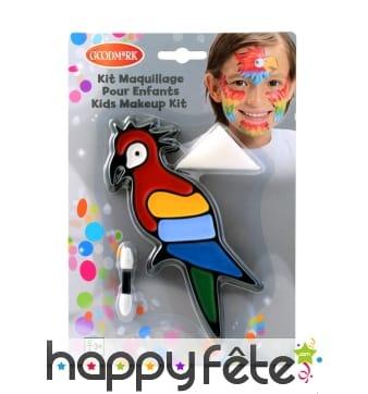 Maquillage perroquet pour enfant