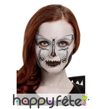 Maquillage papillon squelette pour adulte