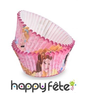 Moules roses cupcake Princesses Disney par 50, 7cm
