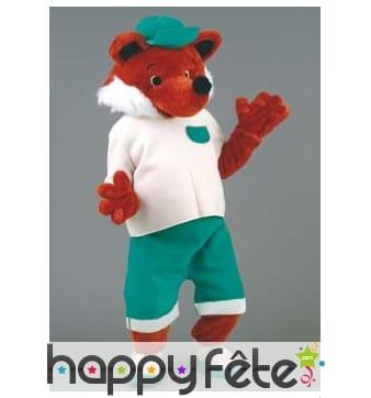 Mascotte renard habillé