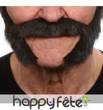 Moustaches rouflaquettes noires
