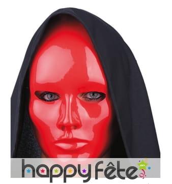 Masque rouge uni facial
