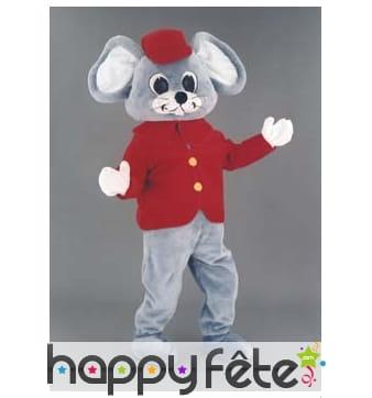 Mascotte souris à casquette