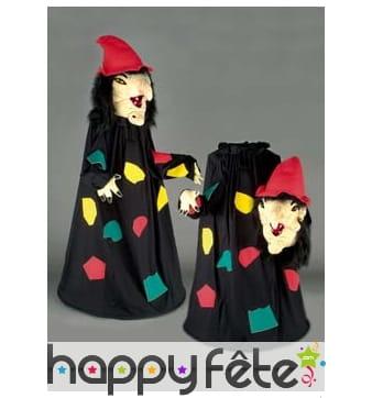 Mascotte sorcière colorée