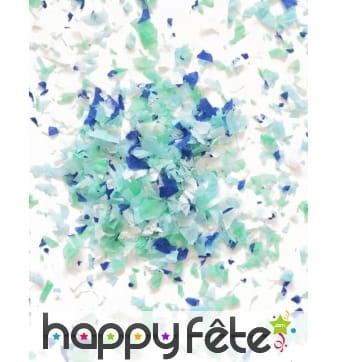 Mini sachet confettis ignifugé couleur bleu
