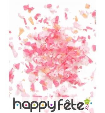 Mini sachet confettis ignifugé couleur rose