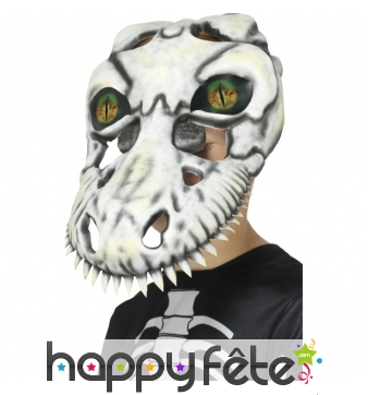 Masque squelette de T-Rex pour enfant