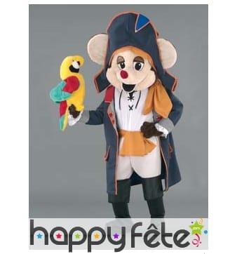 Mascotte souris pirate sans perroquet