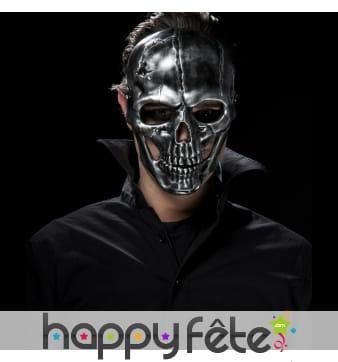 Masque skull tête de mort effet métal