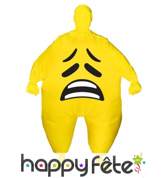 Morphsuit smiley triste gonflable pour adulte