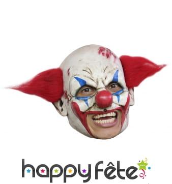 Masque terrifiant de clown, ouverture de bouche