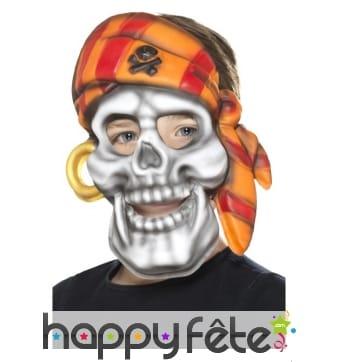 Masque tête de mort de pirate pour enfant